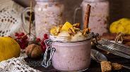 Фото рецепта Ленивая овсянка с грушей и орехами