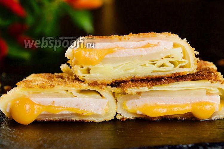 Фото Капуста с ветчиной и сыром в сухарях. Видео-рецепт