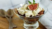 Фото рецепта Творожный десерт с инжиром и печеньем