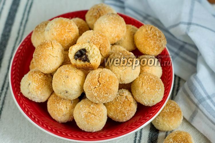 Фото Кокосовое печенье с начинкой