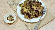 Фото рецепта Тёплый салат с утиным мясом
