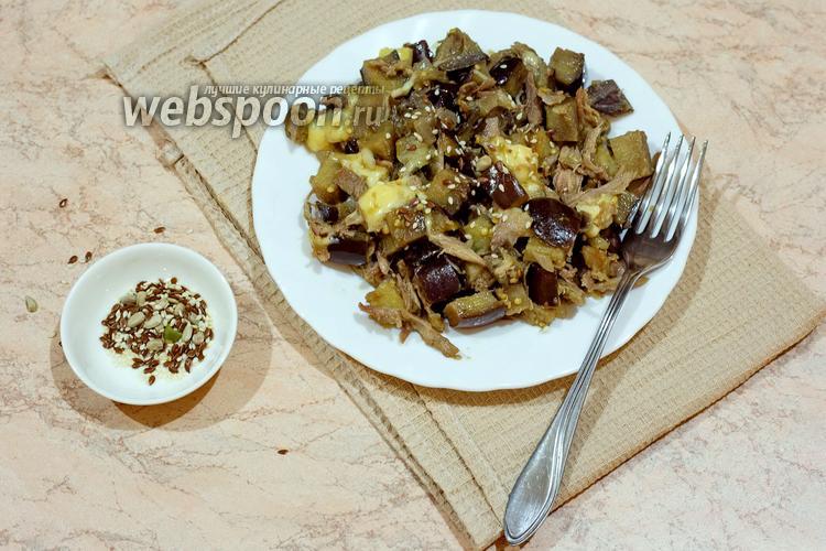 Фото Тёплый салат с утиным мясом