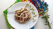 Фото рецепта Рыбный салат с рисом и горошком