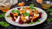 Фото рецепта Витаминный салат из свёклы, апельсина и феты