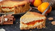 Фото рецепта Творожный пирог с тыквенно-лимонной прослойкой
