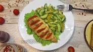 Фото рецепта Куриная грудка фаршированная моцареллой