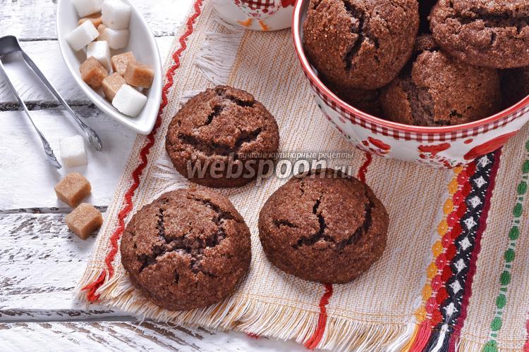 Фото Шоколадное сахарное печенье