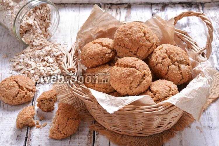 Фото Овсяное сахарное печенье