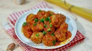 Фото рецепта Фрикадельки из утки в томатном соусе