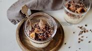 Фото рецепта Запаренная овсянка с инжиром и шоколадом
