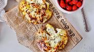 Фото рецепта Мятый запечённый картофель под чесночной корочкой