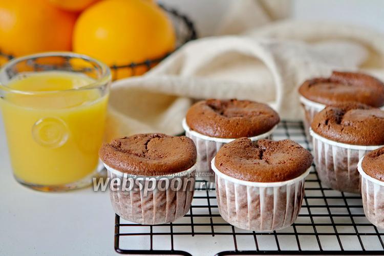 Фото Шоколадные маффины на апельсиновом соке