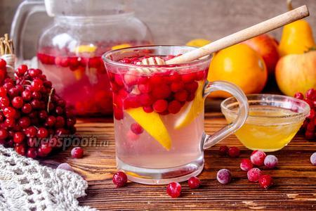 Фото рецепта Чай с калиной и лимоном