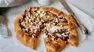 Фото рецепта Галета с шоколадным сыром и грушей