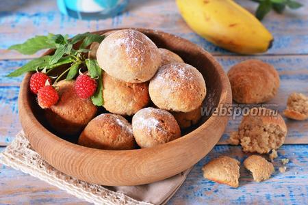 Фото рецепта Овсяное печенье с бананом и творогом