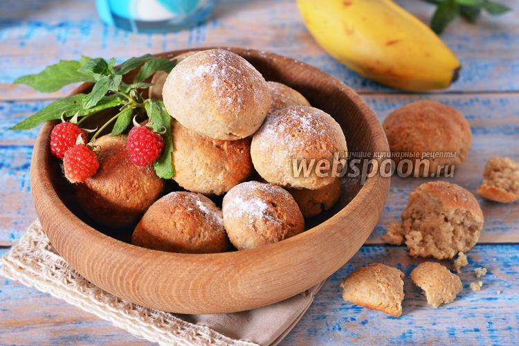 Фото Овсяное печенье с бананом и творогом