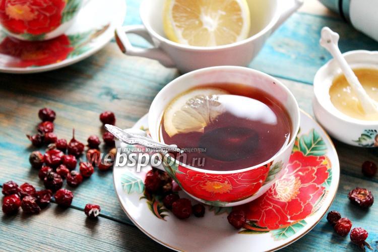 Фото Шиповниковый чай с золотым корнем и имбирём