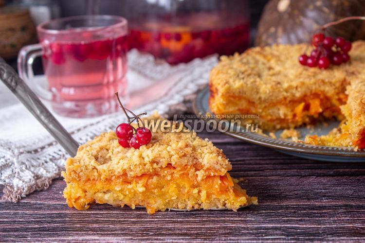 Фото Насыпной пирог с тыквой и апельсином
