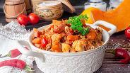 Фото рецепта Капустная солянка с тыквой, грибами и колбасками