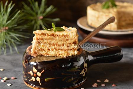 Фото рецепта Жареный торт из крошки