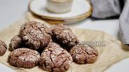 Фото рецепта Шоколадное печенье на рисовой муке с арахисовой пастой