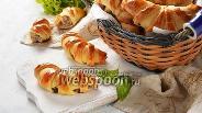 Фото рецепта Рогалики с мясом
