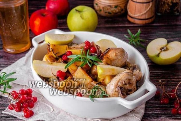 Фото Курица с картофелем в яблочном соке
