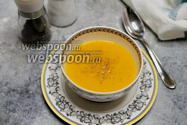 Фото Суп-пюре из тыквы на овсяном молоке