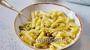 Фото рецепта Паста с зелёным горошком и сыром