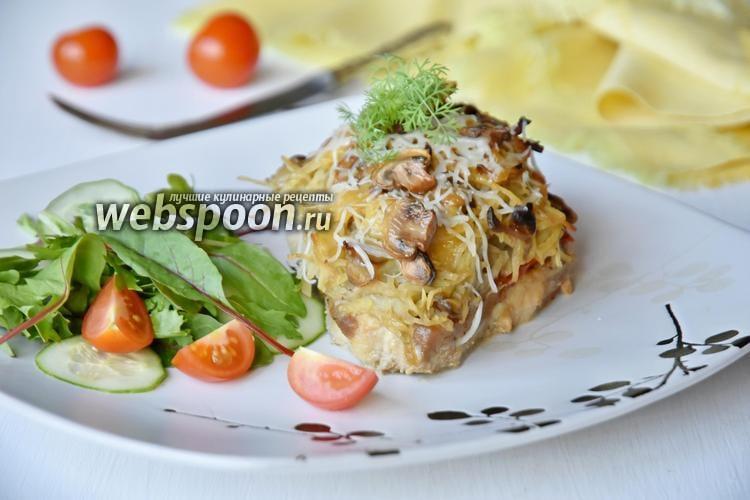 Фото Стожки из свинины с картофелем и грибами