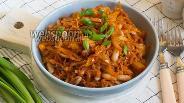 Фото рецепта Жареная капуста с фасолью