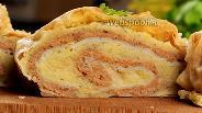 Фото рецепта Рулет из лаваша с фаршем и картошкой. Видео-рецепт