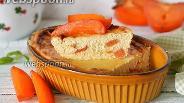 Фото рецепта Творожная запеканка с хурмой