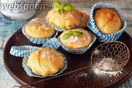 Фото рецепта Творожные кексы с рисовой мукой
