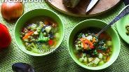 Фото рецепта Овощной суп с брокколи и горохом