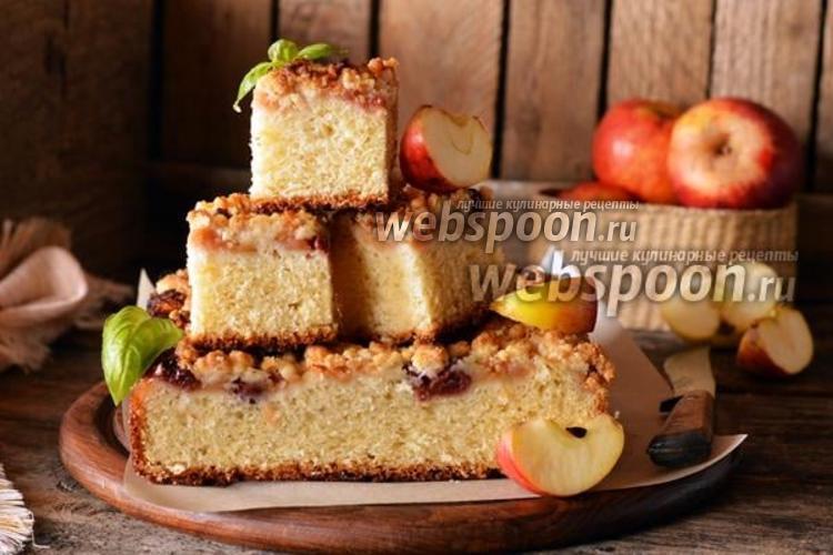 Фото Яблочный пирог без замеса теста