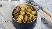 Фото рецепта Картофель с баклажанами в сухарях