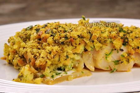 Рыба под хлебной крошкой с зеленью. Видео-рецепт видео рецепт