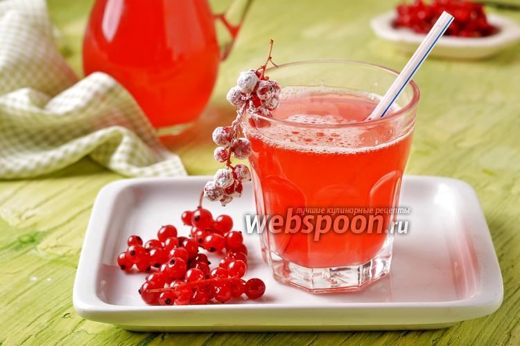 Фото Морс из красной смородины замороженной