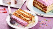 Фото рецепта Медово-творожный торт