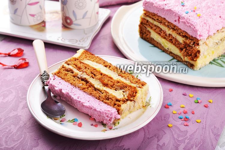 Фото Медово-творожный торт