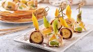 Фото рецепта Блинные роллы с фруктами