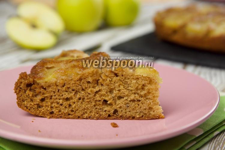 Фото Имбирный пирог с яблоками