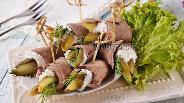 Фото рецепта Рулетики из языка говяжьего