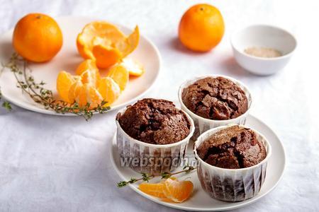 Шоколадные маффины с мандаринами