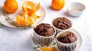 Фото рецепта Шоколадные маффины с мандаринами