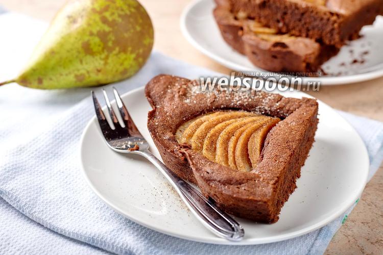 Фото Грушевый пирог с шоколадом