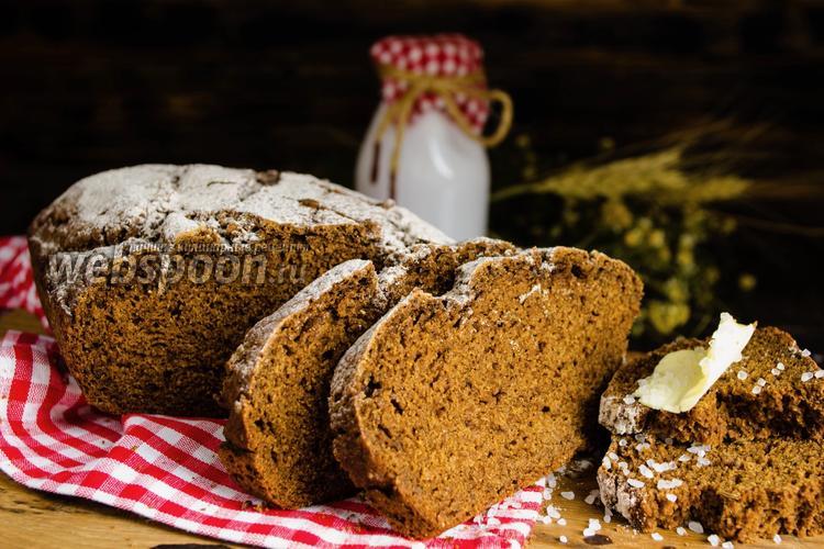 Фото Ржаной хлеб без дрожжей