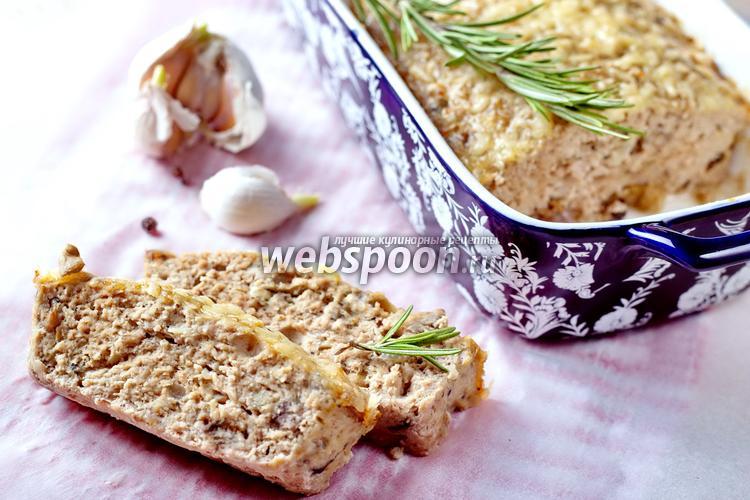 Фото Мясной хлеб из индейки с опятами
