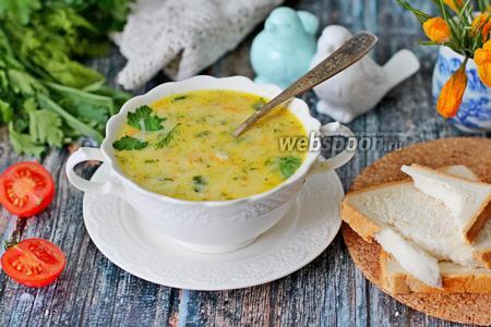 Французский суп с плавленым сыром